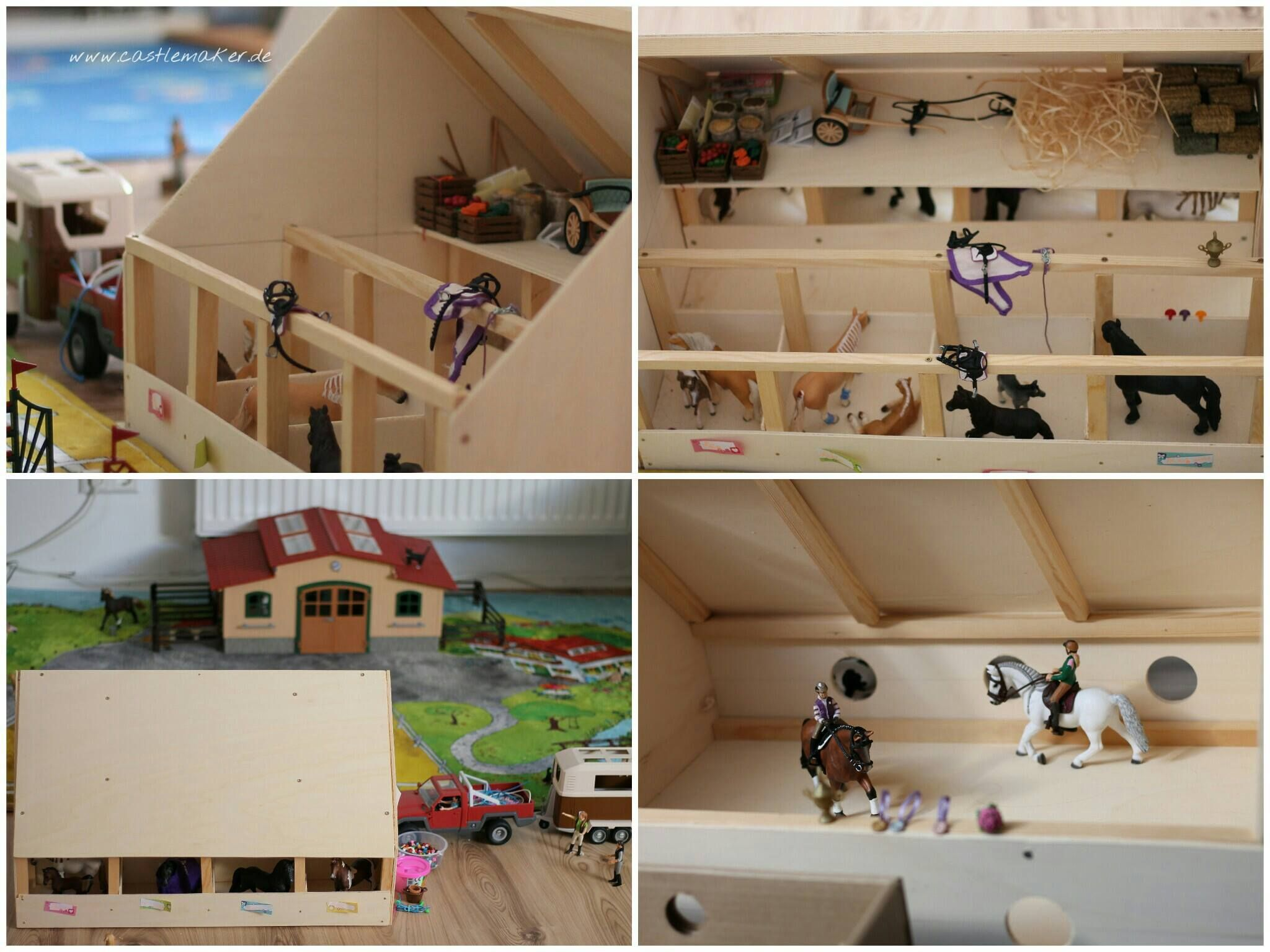 diy wir bauen einen schleich pferdestall reithalle horse playmobil and doll house plans. Black Bedroom Furniture Sets. Home Design Ideas