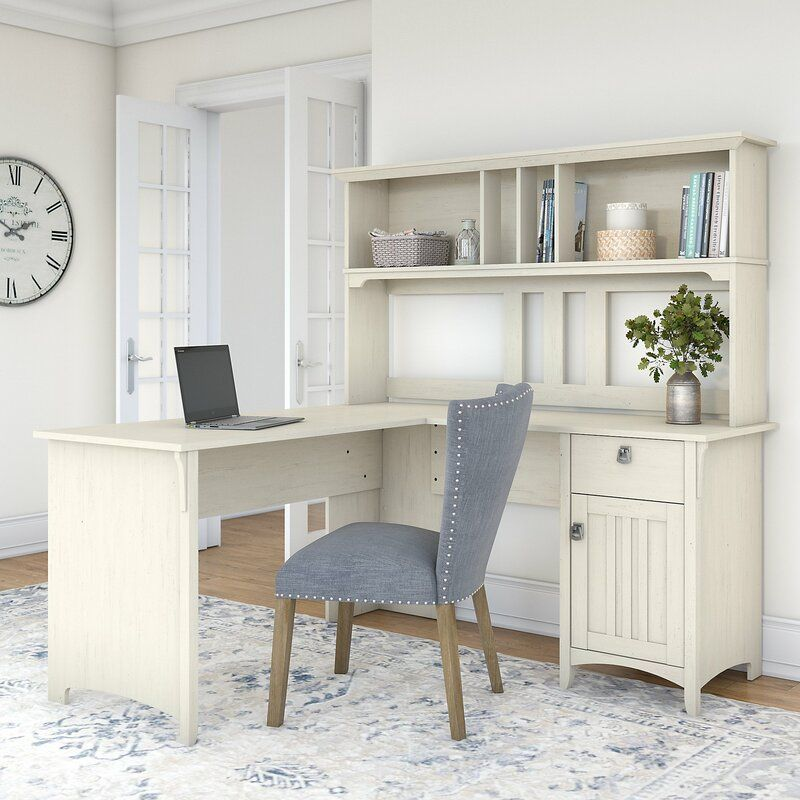 Ottman L Shape Computer Desk With Hutch White L Shaped Desk L Shaped Desk Home Office Design
