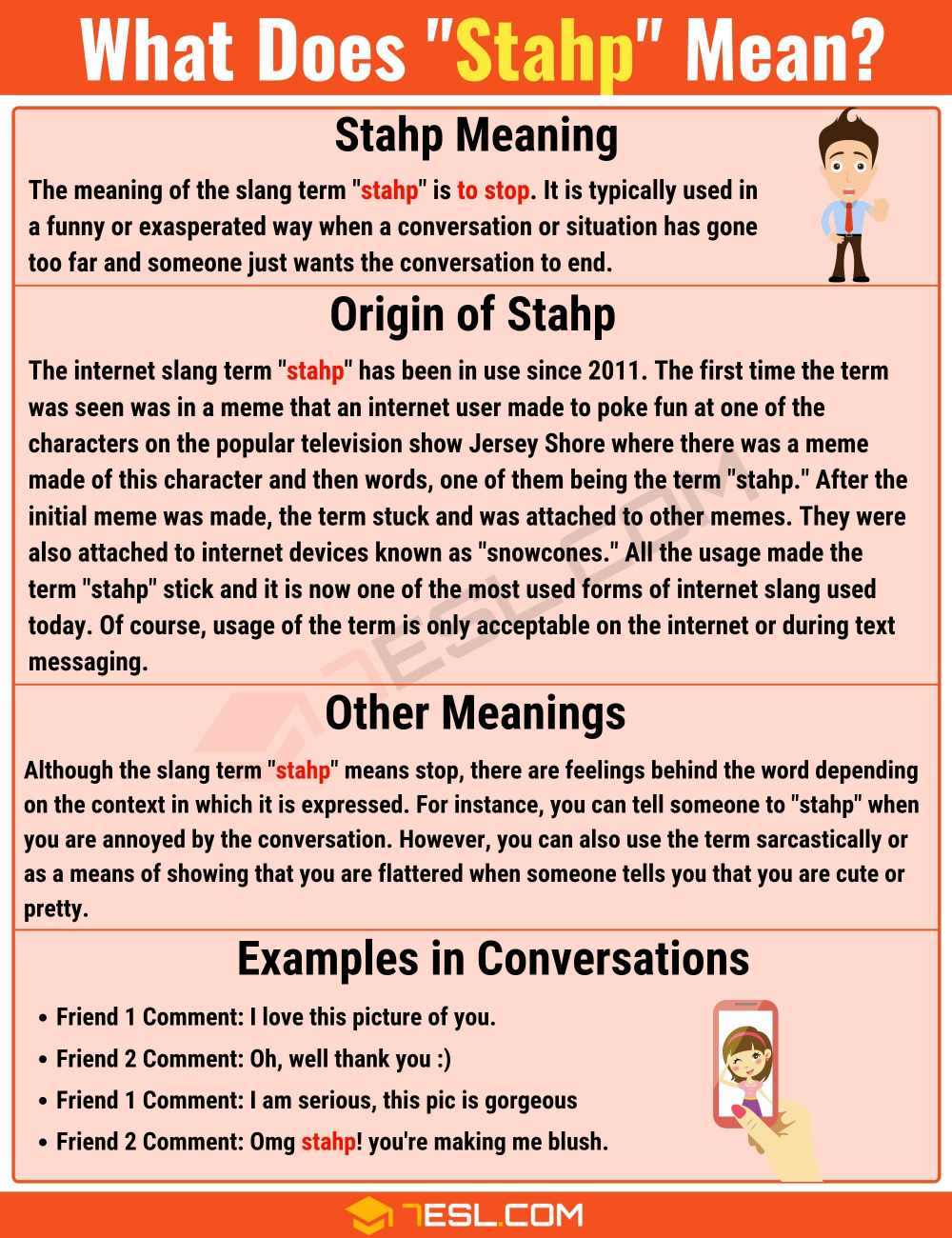 Stahp Meaning What Does Stahp Mean With Useful Examples 7esl Slang Words Meant To Be Other Ways To Say