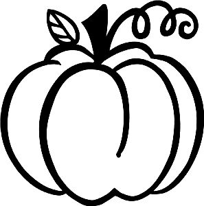 35+ Pumpkin Outline Clipart Black And White