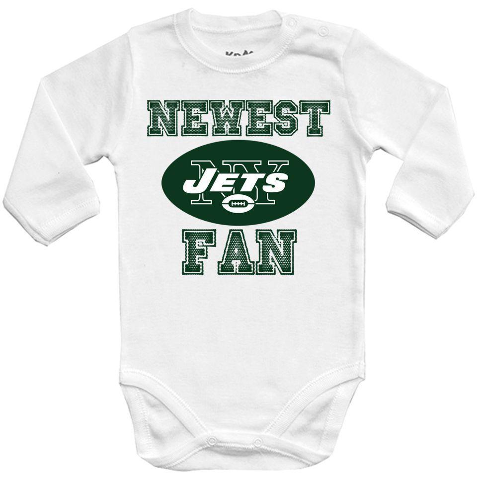 New York Jets NFL BIBS+BABY BODYSUIT ONESIE ONE PIECE CLOTHING
