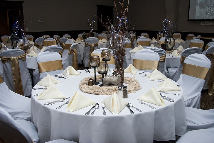 Stupendous White And Ivory Wedding Table Placements Gold Chair Ties Alphanode Cool Chair Designs And Ideas Alphanodeonline