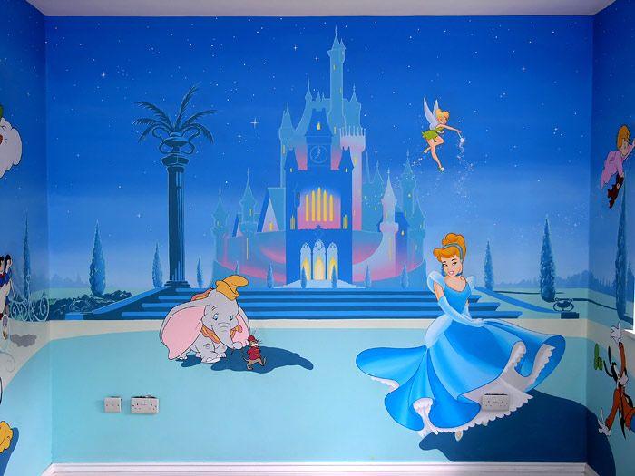 Princess Painted Murals Pan Mural Tinkerbell Disney