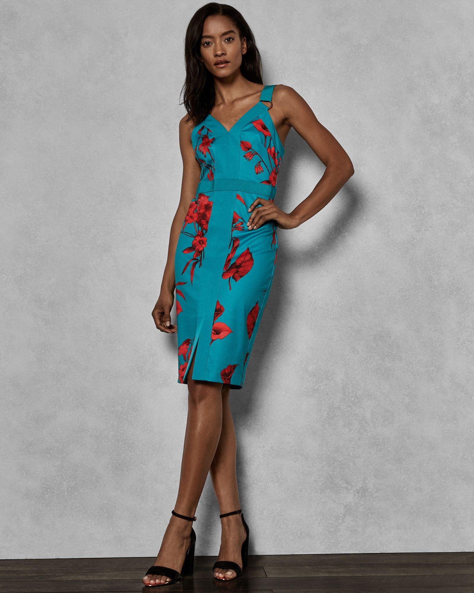eb8e7f9b2196c5 Ted Baker JORDJA Fantasia panel bodycon dress in 2019 | Fashion ...