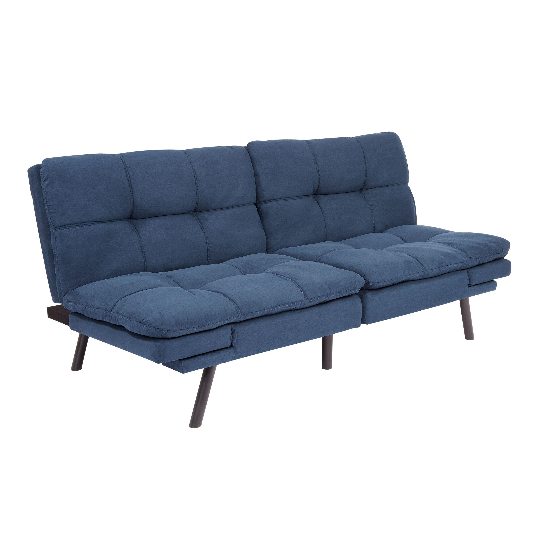 Free 2day shipping. Buy Mainstays Memory Foam Futon, Blue