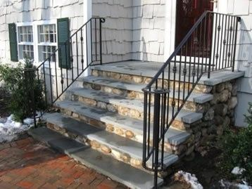 Home Depot Granite Steps Design Home View On Homedec Wrought | Metal Handrail Home Depot | Deck Stairs | Outdoor Handrails | Balusters | Porch Railings | Aluminum Railing