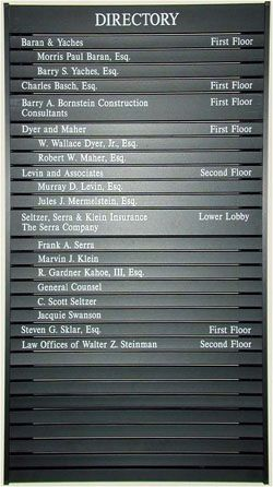 Building Directories Interior Office Business Signs Office Signage Business Signs Directory Signs