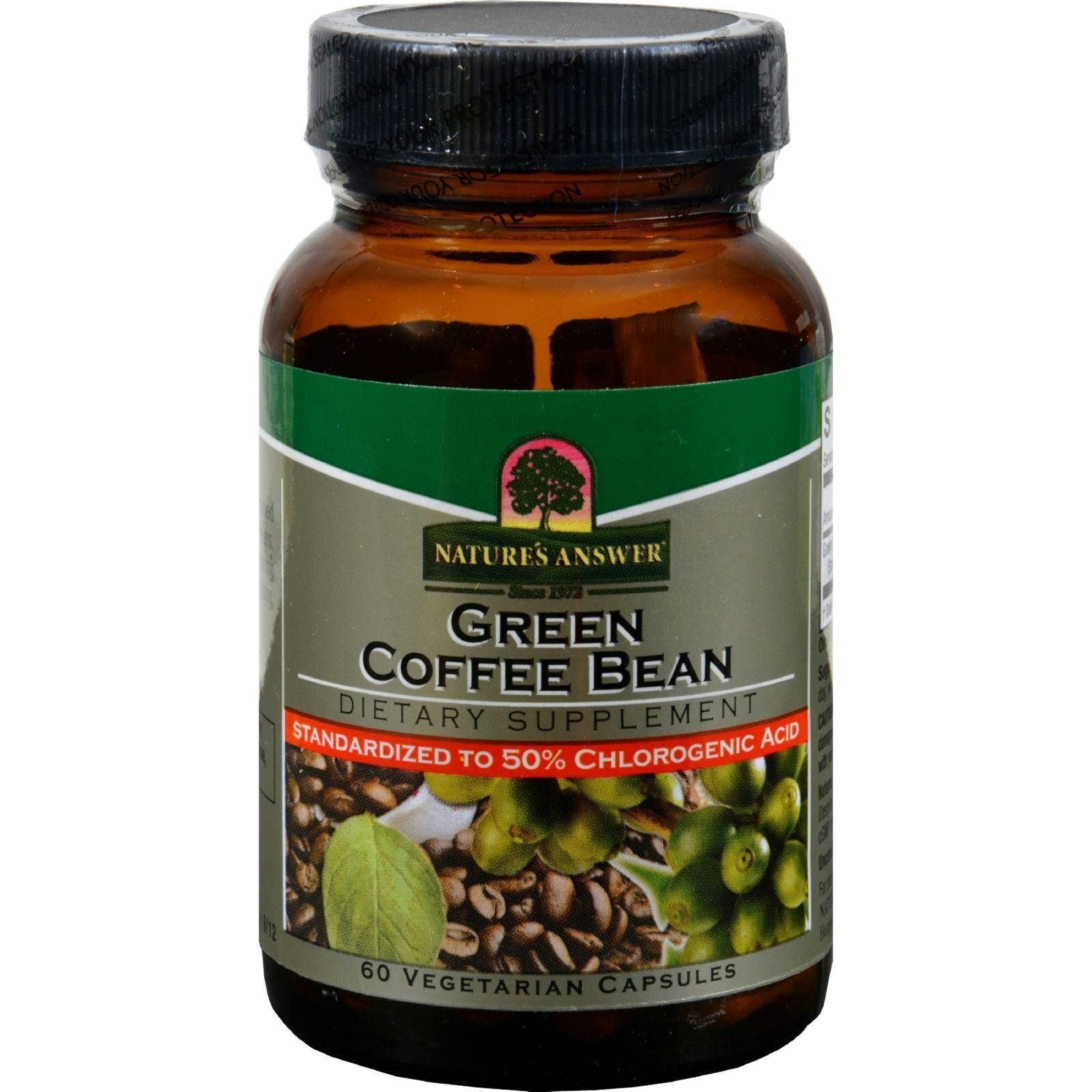 Natures Answer Green Coffee Bean Extract 60 Vcaps