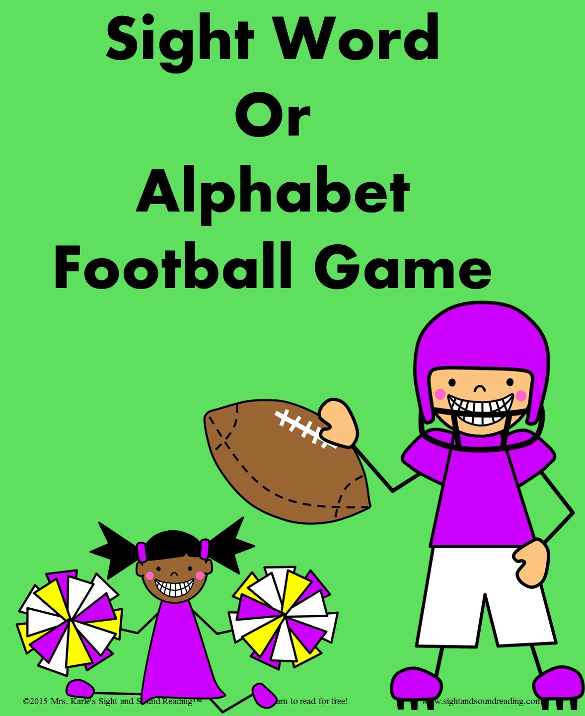 Three fun Dolch Sight Word Games Football, Basketball