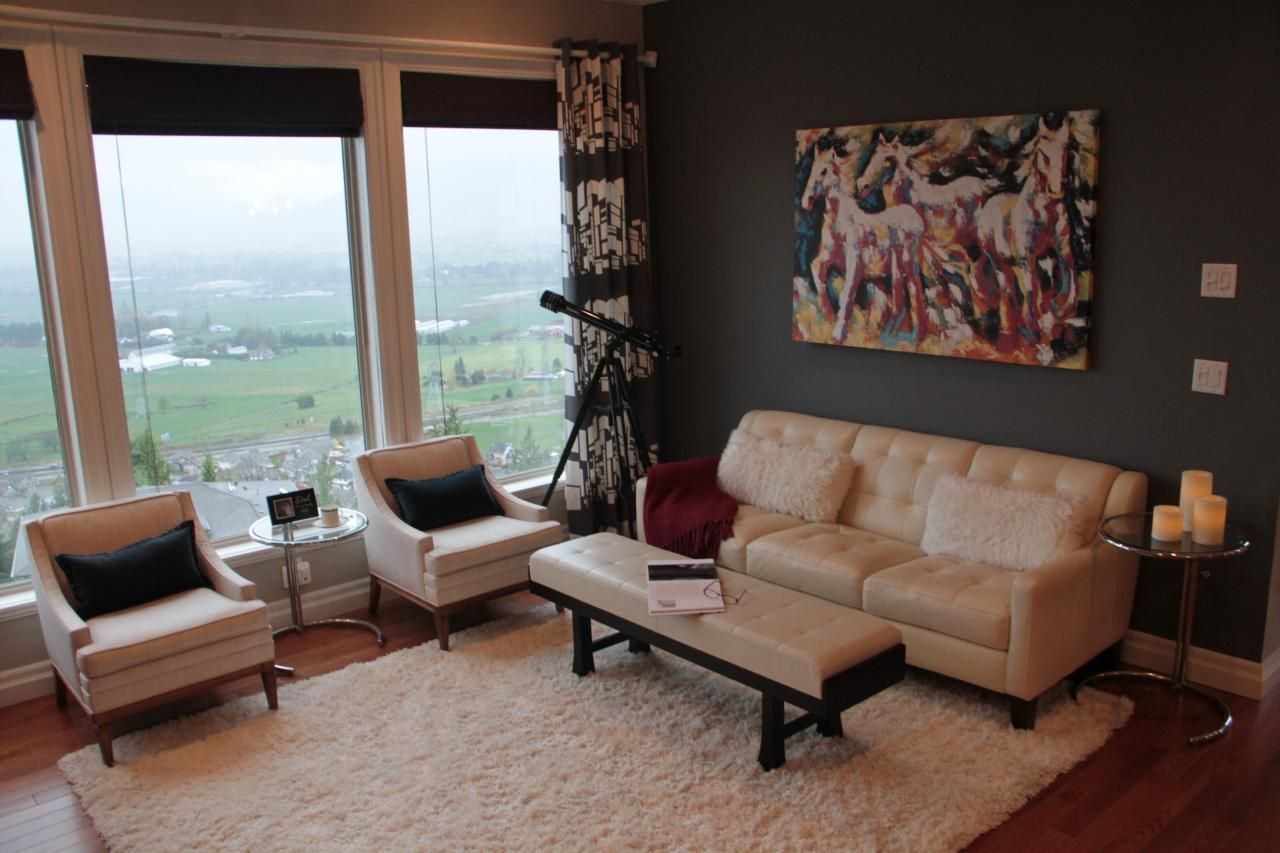 Pict mid century modern window shades 11 -  Colors In This Living Room Work Together To Create An Inviting Midcentury Modern Look The Cream Shag Rug Grounds The Space And Windows Treatments Make