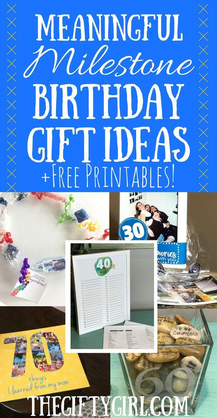 Milestone Birthday Gift Ideas