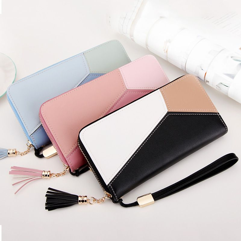 Short Women/'s Real Leather Checkbook Wallet Card Holder Purse Cash Lady Handbag
