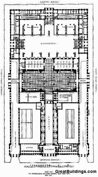 Pennsylvania Station, by McKim, Mead, and White, at New