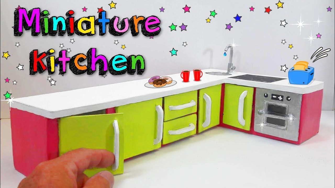 Diy Miniature Kitchen Crafts For Dolls Dollhouse Diy Diy For