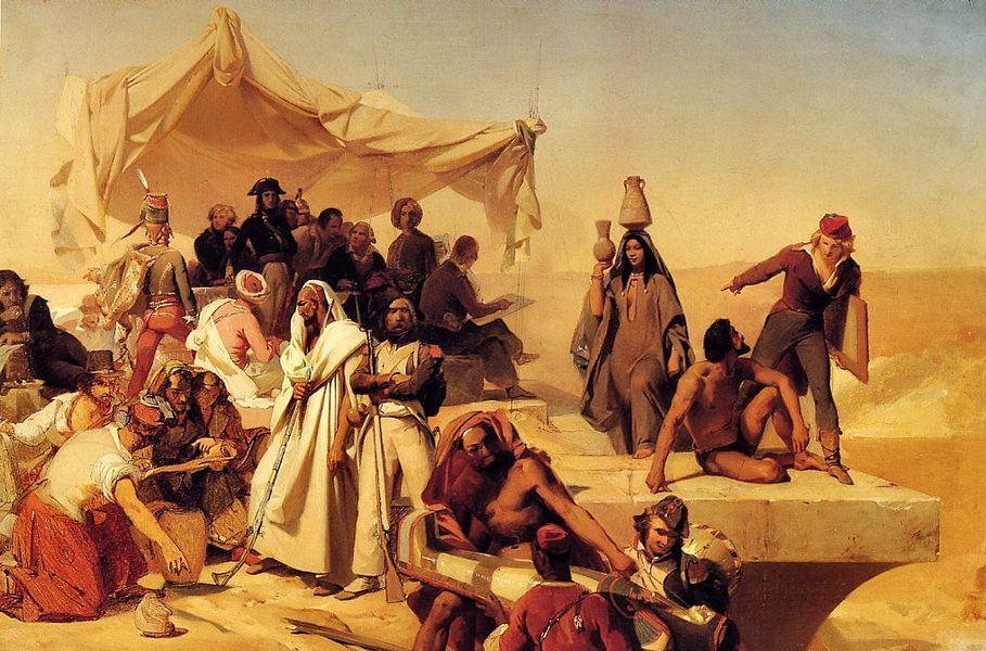 Léon Cogniet: L'Expédition d'Égypte sous les ordres de Bonaparte (1835-1836), Paris, musée du Louvre.