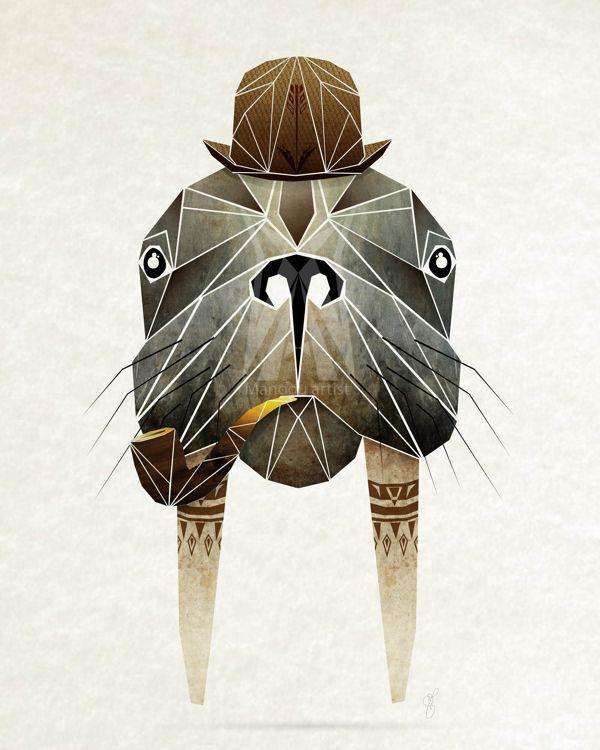 Walrus of Alice in Wonderland    Manoou