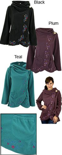 Flowering Vines Fleece Wrap Jacket at The Hunger Site. I have one ...