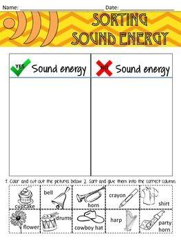 Sound Energy Worksheet Sorting | Kindergarten learning ...