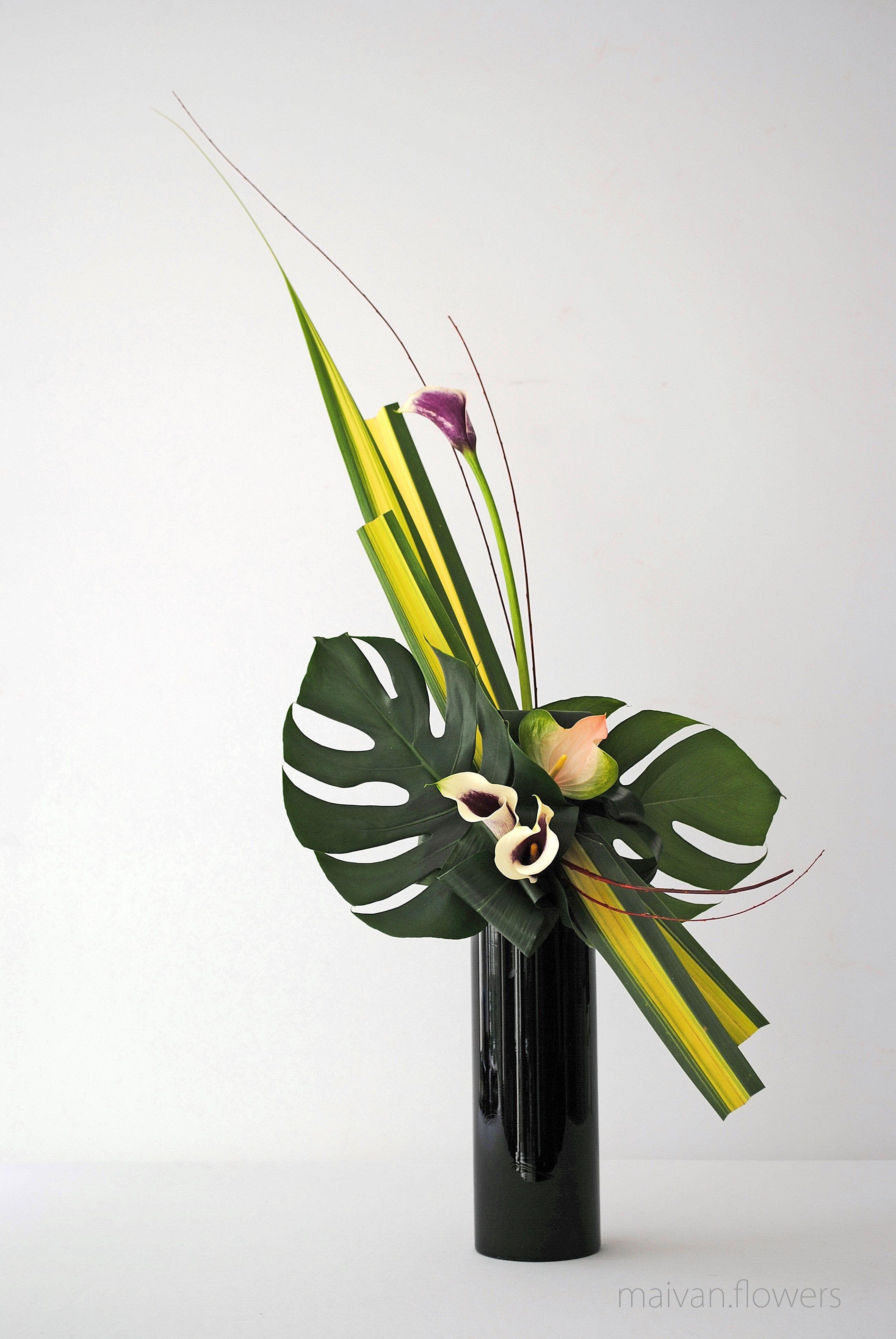art floral moderne arrangement floral. Black Bedroom Furniture Sets. Home Design Ideas