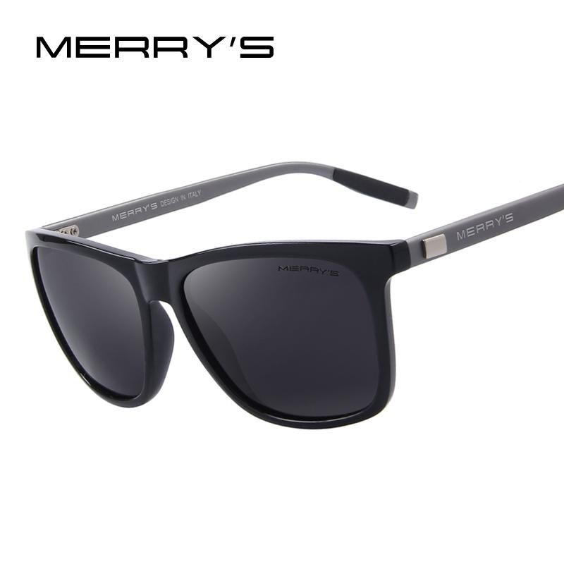 bf079642d5 MERRY S Unisex Retro Aluminum Sunglasses Polarized Lens Vintage Sun Glasses  For Men Women S 8286
