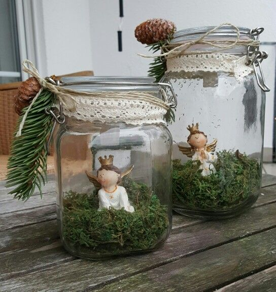 Weihnachten dekoration einmachglas engel basteln for Dekoration weihnachten