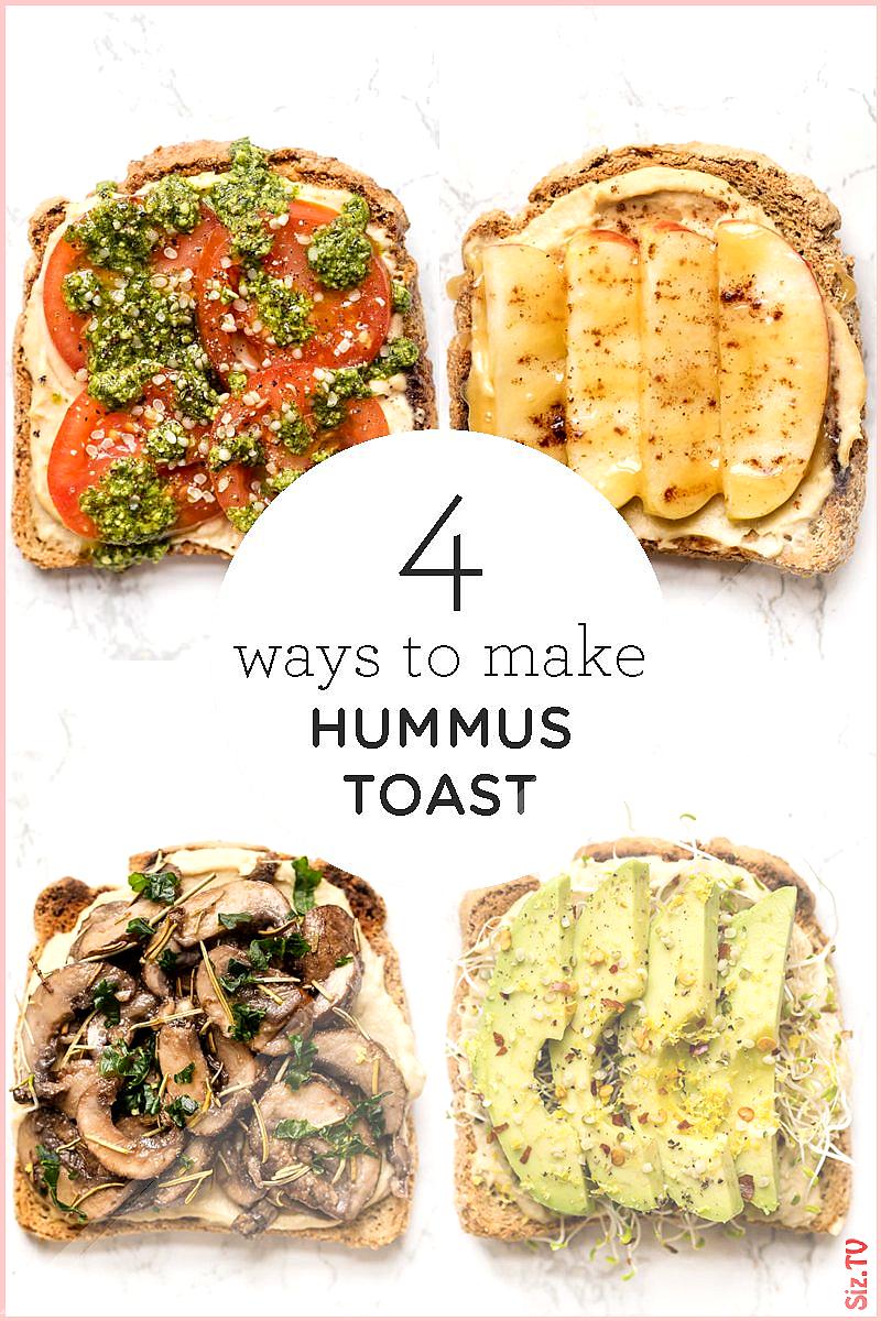 Healthy Hummus Toast  4 Easy Breakfast Recipes  Simply Quinoa Healthy Hummus Toast  4 Easy Breakfas
