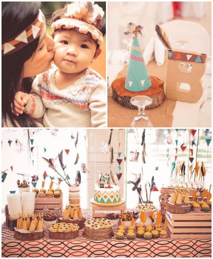 Indian Princess Themed Birthday Party Tribal birthday