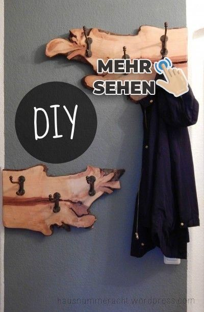 DIY wardrobe from a pear tree root -  # #machesselbst–diy