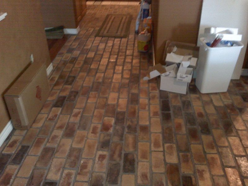 Laminate flooring that looks like brick gurus floor for Lino that looks like laminate flooring