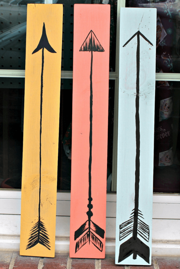 DIY Bohemian Wooden Arrow Wall Art