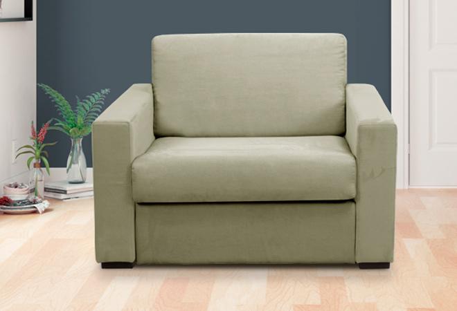 Divano/futon in pino Beat Black vinaccia 162x80x75 cm