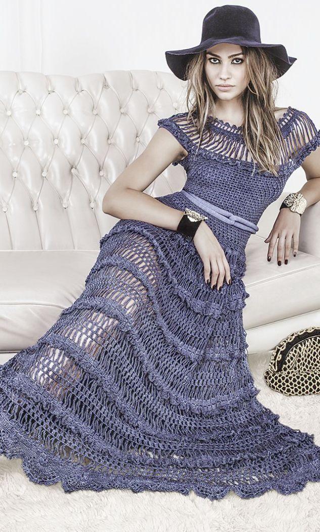 Crochet Lace Dress Patterns Free Knitted Lace Dress Crochet
