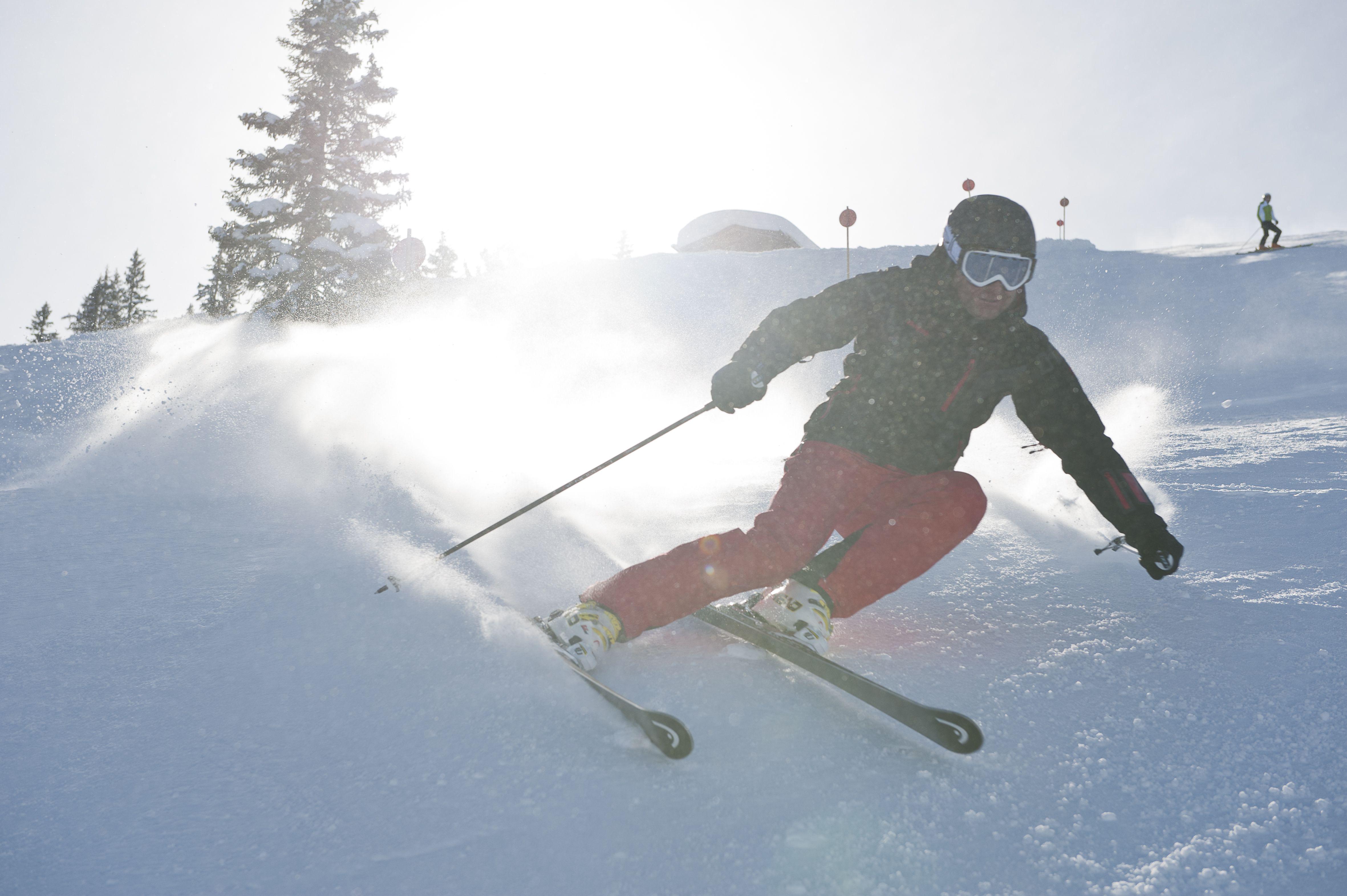 skiing at Golm in Montafon - schi fahren am Golm im Montafon