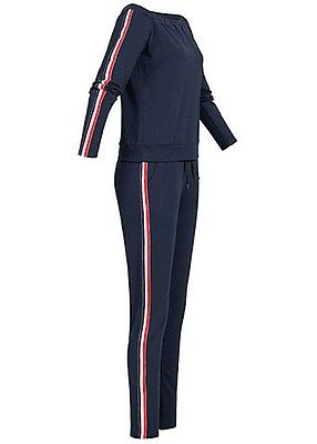 79a9d319137da6 Styleboom Fashion Damen Off-Shoulder Sweatsuit navy blau - Art.-Nr.