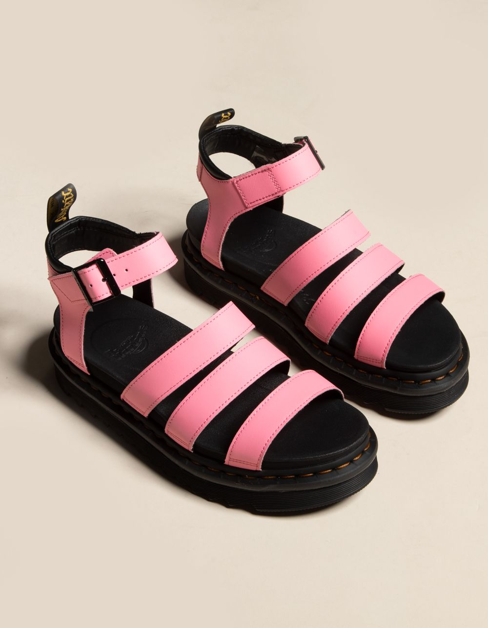 DR. MARTENS Blaire Hydro Leather Pink Lemonade Sandals #pinklemonade