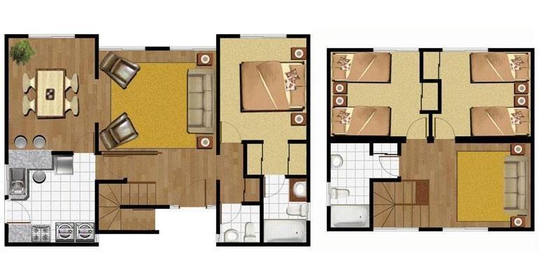 planos de casas modernas 2 pisos gratis