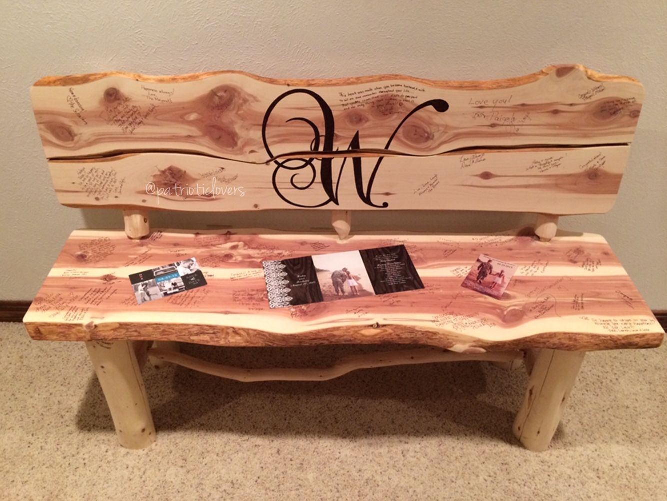Wood Bench Alternative Guestbook