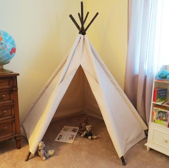5' Corner Canvas Tepee Tent by WhiteVineDesign on Etsy https://www.etsy.com/listing/246929350/5-corner-canvas-tepee-tent