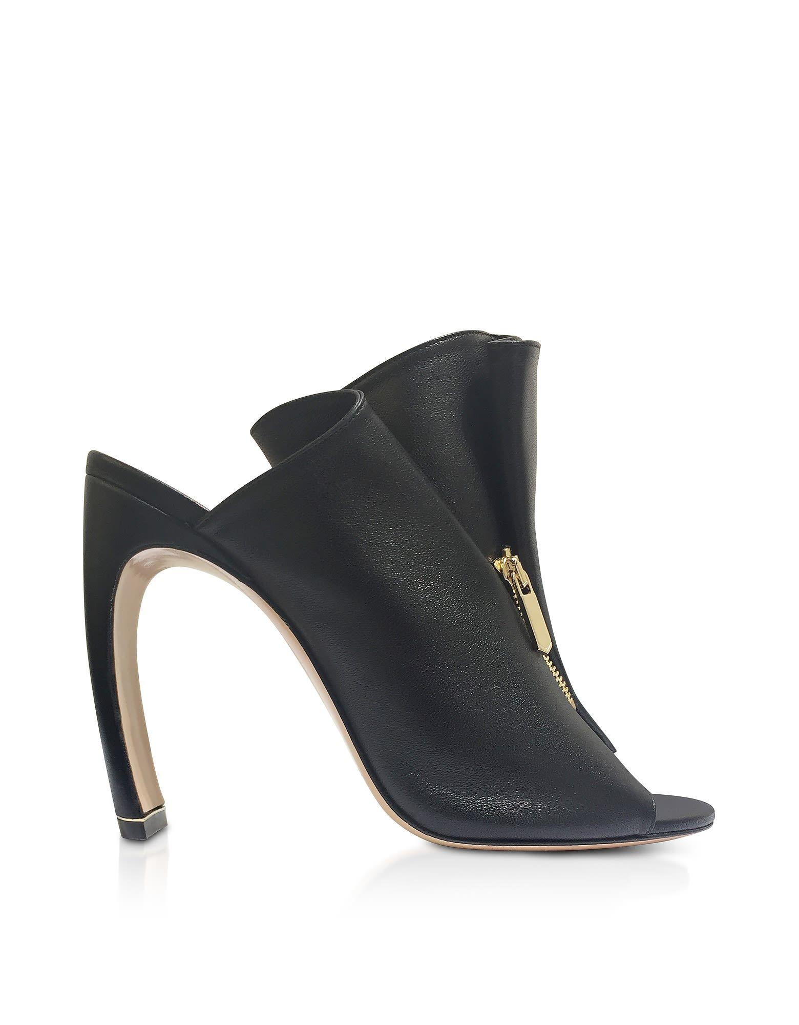 Nicholas Kirkwood Designer Shoes, Nappa 105mm Kristen High Heel Mules