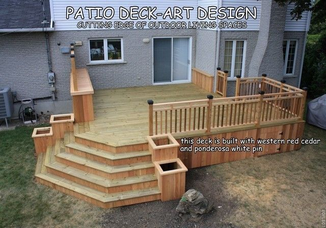 Beautiful Corner Deck Stairs Design related to Home ...
