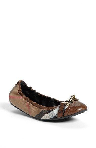 Burberry 'Shipley' Flat (Women | Flat shoes outfit, Womens