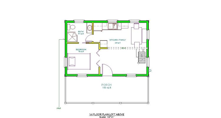 16 X 24 Floor Plan Adirondack Cabin Plans 16 39 X24 39 With