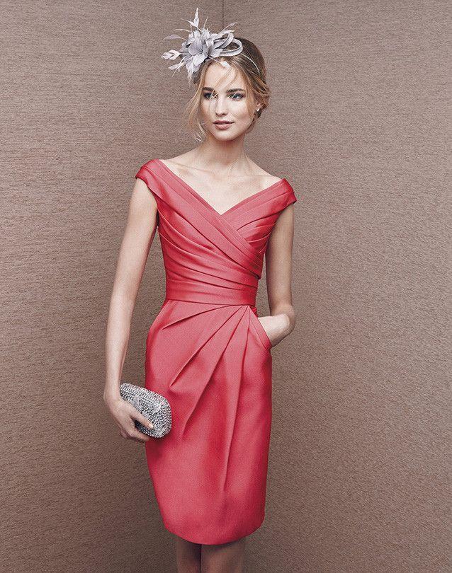 vestido corto modelo 6606 by Pronovias | Boutique Clara | vestido ...