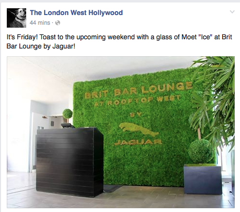 SYNLawn on a wall? The London West Hollywood says ABSOLUTELY!