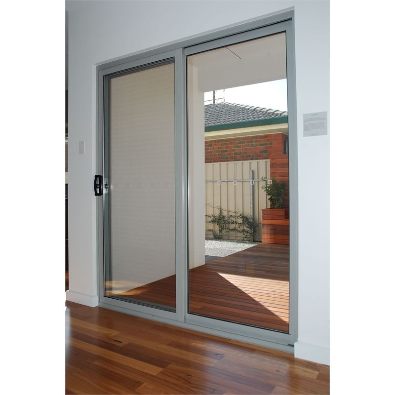 Polar 2145 x 1800 aluminium double glazed sliding door kit for Aluminum sliding glass doors