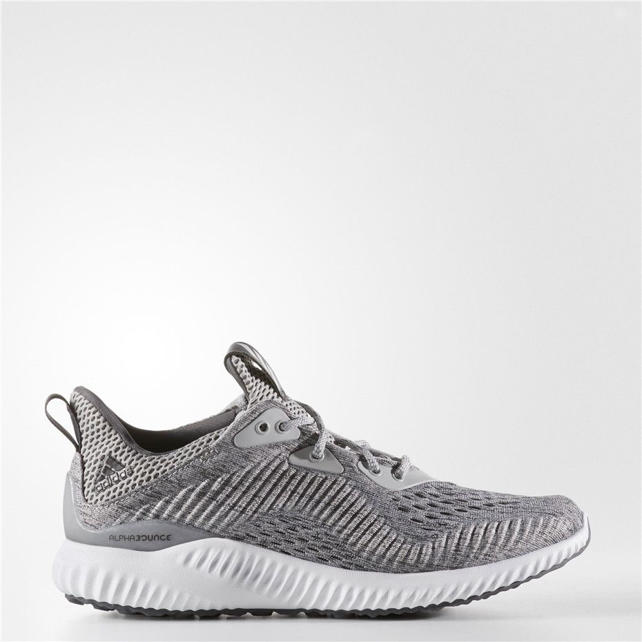 020fcc93d5ee1 Adidas Alphabounce EM Shoes (Grey   Grey   Running White)