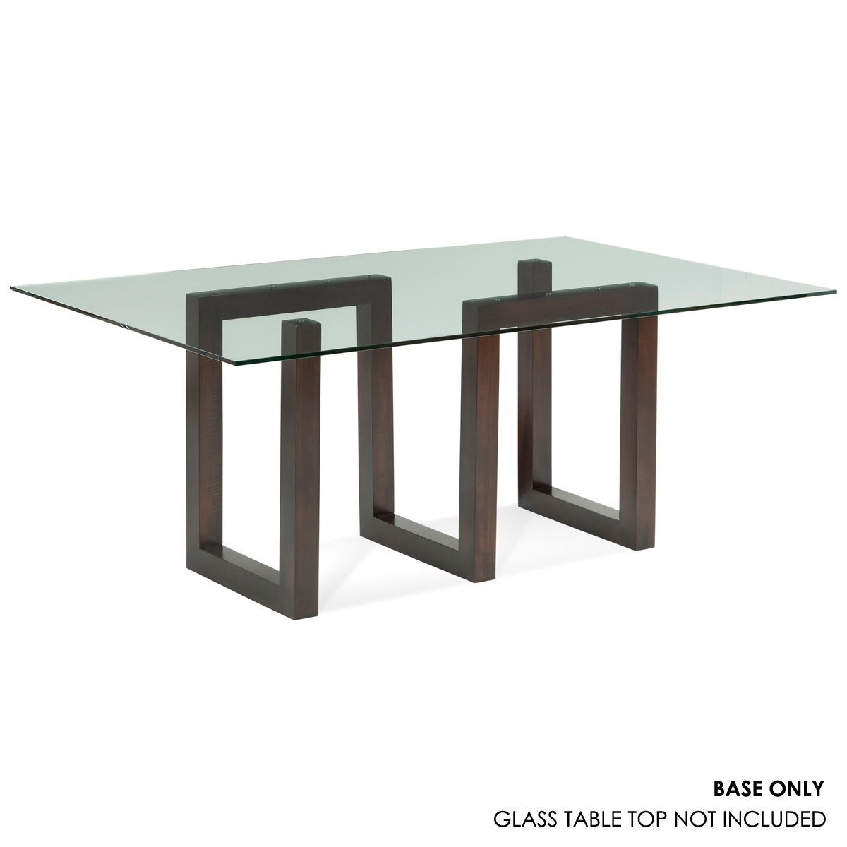 Serpent Rectangular Glass Top Dining Table Glass Top Dining