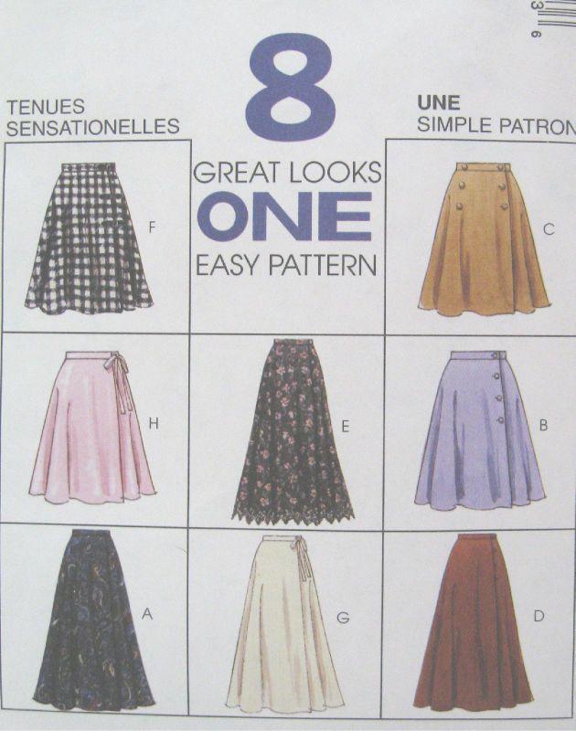 Easy Wraps Skirts Patterns   Misses Wrap Skirt Pattern Side Closure Vary Easy 7905   eBay