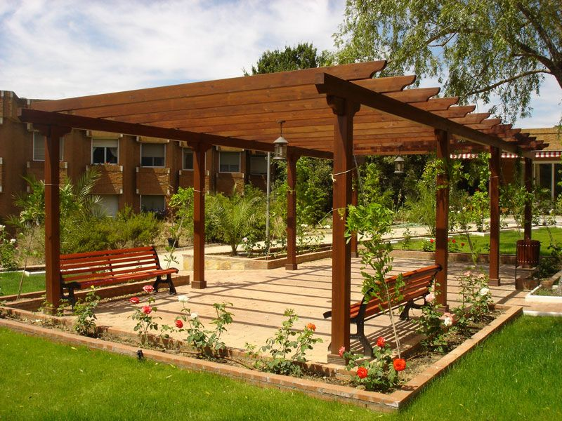 P rgolas de madera en madrid pergolas pinterest pergolas - Construccion de pergolas de madera ...