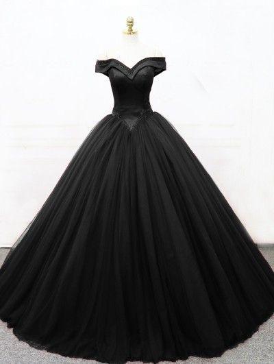 Schwarze gotische Prinzessin Ballkleid Brautkleid – New Ideas